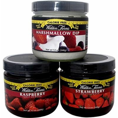 Walden Farms Calorie Free Sugar Free Strawberry and Rasberry Fruit Spreads and Marshmellow Dip