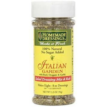 Homemade Dressings Italian Garden Salad Dressing Mix and Rub, 3.3 Ounce (Pack of 12)