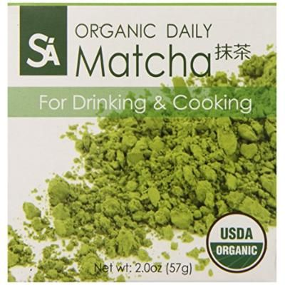 SA Japanese Green Tea Organic Daily Matcha for Drinking and Cooking, 2 Ounce