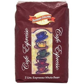Supremo Italiano Cafe Expresso Whole Bean Coffee 2 Lb (2 Pack)