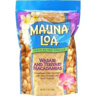 Mauna Loa Wasabi & Teriyaki Macadamia Nuts 1 Bag 11oz Each and 1 Tube of Gardenia Moisturizing Lotion, and 1 Tube of Noni Coco Mango Conditioning Shampoo,