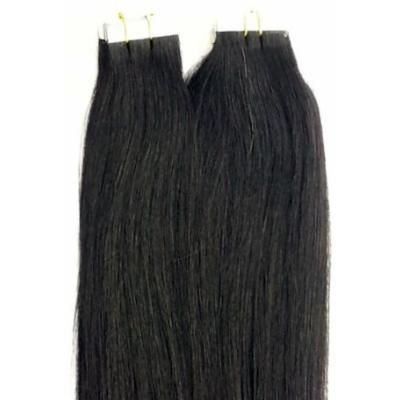 20 inches 100grs,40pcs, 100% Human Tape In Hair Extensions #1 Jet Black