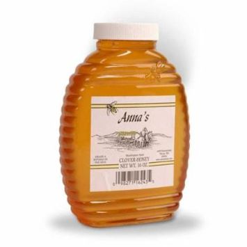 Clover Honey Beehive Bottle, 16 oz - Grade A, Natural, Raw Honey - by Anna's Honey (Pack of 4)