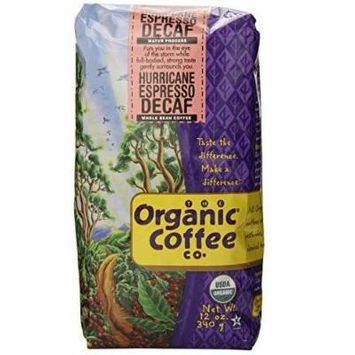The Organic Coffee Company Whole Bean Hurricane Espresso, 32-Ounce Bag