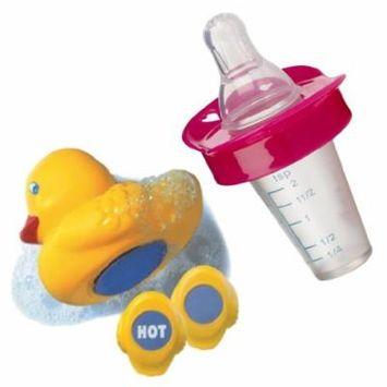 Munchkin The Medicator Pacifier Medicine Dispenser with Munchkin White Hot Bath Ducky, Pink