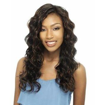 Q MOTION 4PCS - MilkyWay Que Fourbulous Human Hair MasterMix Weave Extensions #1B Off Black