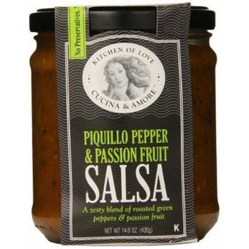 Cucina & Amore Piquillo Pepper and Passion Fruit Salsa, 14.8 Ounce