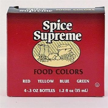 Spice Supreme Food Color 4 Pack Assorted Case Pack 24