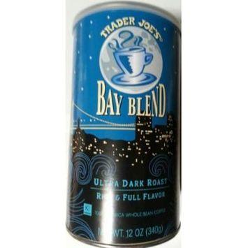 Trader Joe's Bay Blend Ultra Dark Roast Rich & Full Flavor 100% Arabica Whole Bean Coffee 12 Oz.