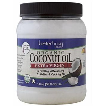 BetterBody Foods Organic Cold Pressed Extra Virgin Coconut Oil, 56 ounce