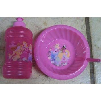 Disney Princess 16 oz. sports Mug and Cereal Bowl