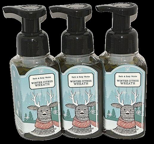 3 Bath & Body Works Winter Citrus Wreath Gentle Foaming Hand Soap 8.75 Wash