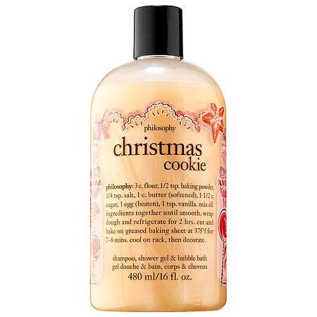 philosophy Christmas Cookie Shampoo, Shower Gel & Bubble Bath 16 oz/ 480 mL
