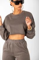 Sorella Charcoal Crop Hoodie & Sweats Set