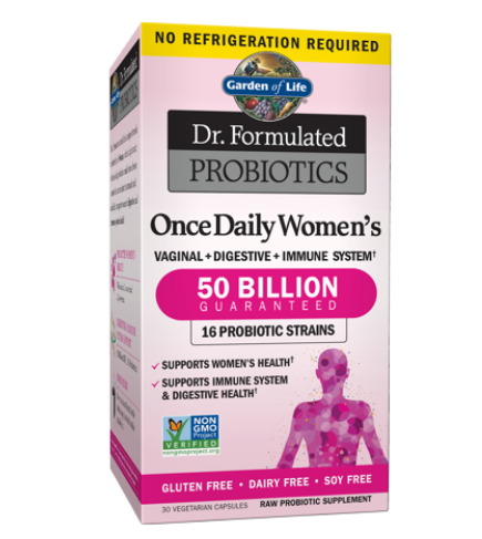 Garden Of Life Dr. Formulated Probiotics Once Daily Women's 50 Billion CFU Shelf-stable - 30 Vegetarian Capsules