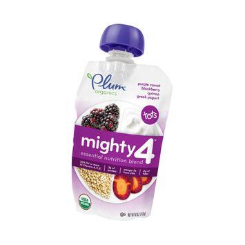 Plum Organics Mighty 4 Purple Carrot, Blackberry, Quinoa & Greek Yogurt Tots Snack - 4oz