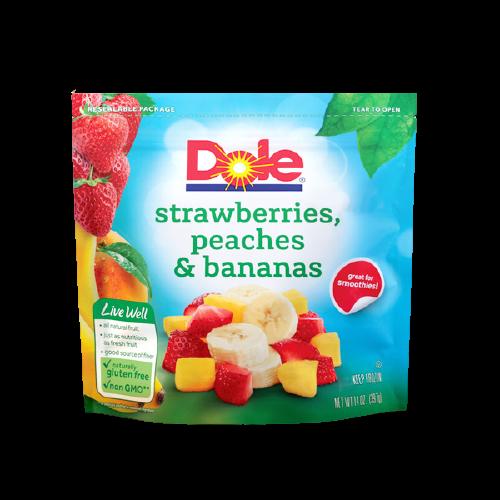 Dole Frozen Strawberries, Peaches & Bananas