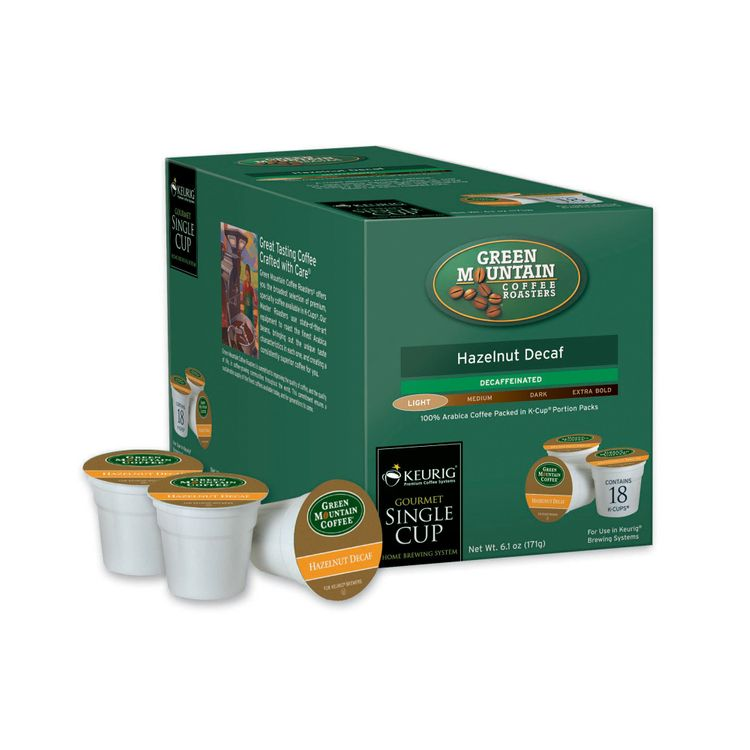 Hazelnut Decaf Coffe For Keurig K cups Brewing Systems 108pk. (6 18ct. Boxes) - M Block