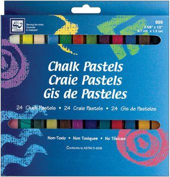 Loew-Cornell Chalk Pastels, 24/Pkg - LOEW-CORNELL, INC.