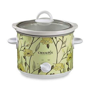 Crock-pot 3 Qt Manual Slow Cooker, Yellow Flower