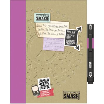 Eksuccess Brands SMASH Cutesy Folio 40 Pages-With Pen And Glue