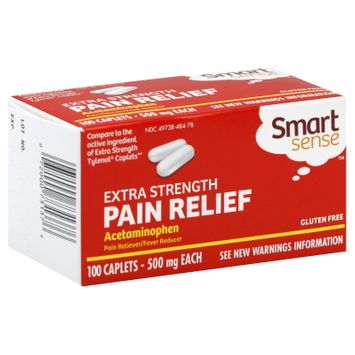 Kmart Corporation Pain Relief, Extra Strength, 500 mg, Caplets, 100 caplets