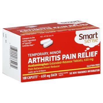 Smart Sense Arthritis Pain Relief, Temporary, Minor, 650 mg, 100 Tablets - KMART CORPORATION
