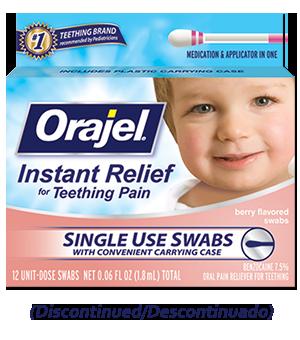 Orajel™ Medicated Teething Swabs