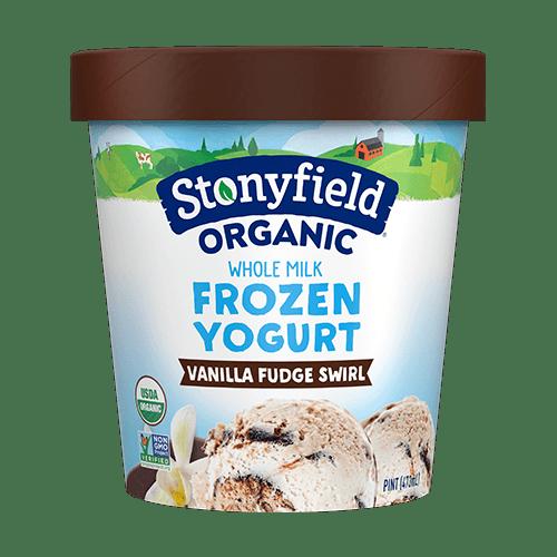 Stonyfield Organic Nonfat Frozen Yogurt Vanilla Fudge Swirl