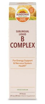 Sundown Naturals Sublingual Liquid B Complex