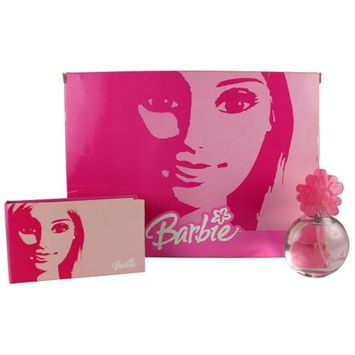 Barbie For Girls - Gift Set - EDT Spray 1.3oz Perfume & Barbie Notebook with mirror