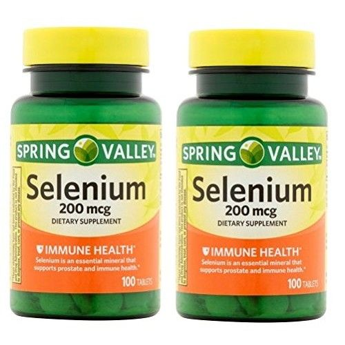Spring Valley - Selenium 200 mcg, 100 Tablets (Pack of 2)