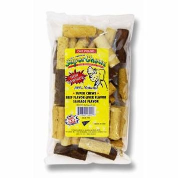 PCI Premium All Natural SuperChews Beef, Liver & Sausage Flavor Dog Treats - 1 Pound