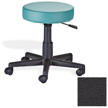 Earthlite Rolling Stool, Black, 1 ea