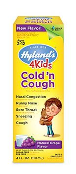 Hylands Homeopathic Cold n Cough - 4 Kids - Grape - 4 oz Children's Homeopathic