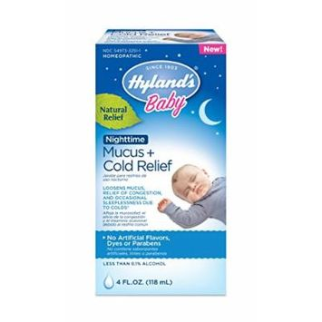 Hyland's Baby Night Time Mucus and Cold Relief Medicine, 4 Ounce