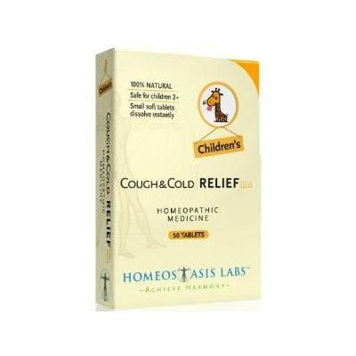 Homeostasis Labs Children's Cough and Cold Relief 50 Count (Pack of 2)