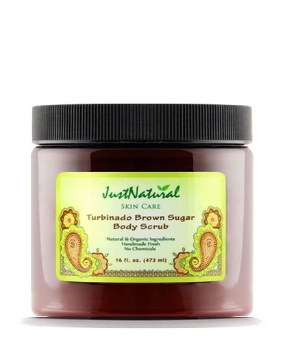 Just Natural Products Turbinado Brown Sugar Body Scrub