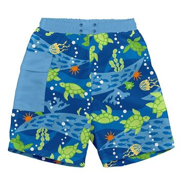 iPlay Pocket Trunks with Built-in Reusable Absorbent Swim Diaper