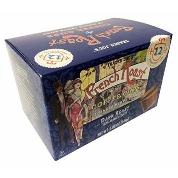 60 cups Trader Joes Dark French Roast Single Serve cups like K Cups for Keurig