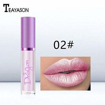 Creazy Women Waterproof Mermaid Lipstick Lasting Long Shimmer Liquid Lip Gloss Makeup