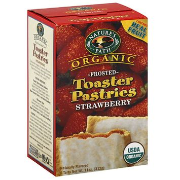 Nature's Path Organic Frosted Strawberry Toaster Pastries, 11 oz, (Pack of 6)