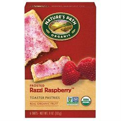NATURE'S PATH Organic Frosted Raspberry Toaster Pastry 11 OZ