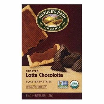 Natures Path Lotta Chocolotta Frosted Toaster Pastries, 6 ea (Pack of 12)
