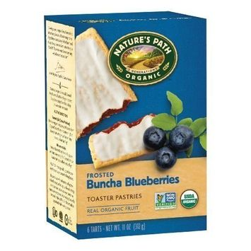 Nature's Path Organic Frosted Toaster Pastries, Buncha Blueberries, 6-Count Boxes (Pack of 12)