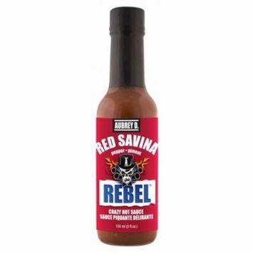 Aubrey D. Rebel Red Savina Hot Sauce, 150ml