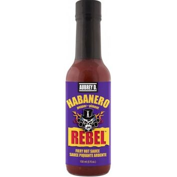 Spicy Peppery Habanero Hot Sauce from Aubrey D, a Blend of Fiery Peppers so Hot, the Tangy Exotic Taste Wants You to Have More