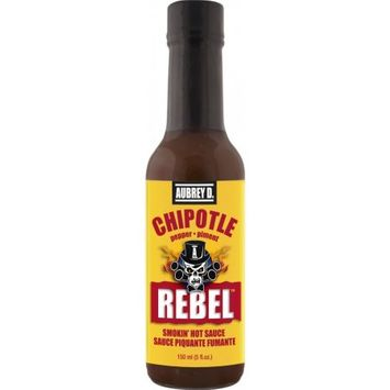 Hot Smoky Flavor of Succulent Chipotle, Jalapeno and Habanero in Aubrey D. Rebel Chipotle Hot Sauce, Perfect for zesty cooking!