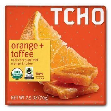 TCHO Orange + Toffee Dark Chocolate Bar - 2.5oz