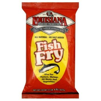 LOUISIANA Fish Fry Products Fish Fry All Natural Fish Fry Salt Free 22 oz